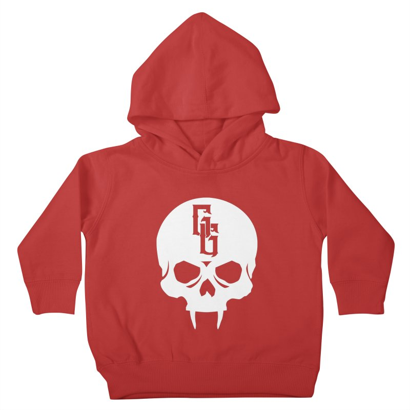Gehenna Gaming Skull Logo (No Text - Goth Version) Kids Toddler Pullover Hoody by The Gehenna Gaming Shop