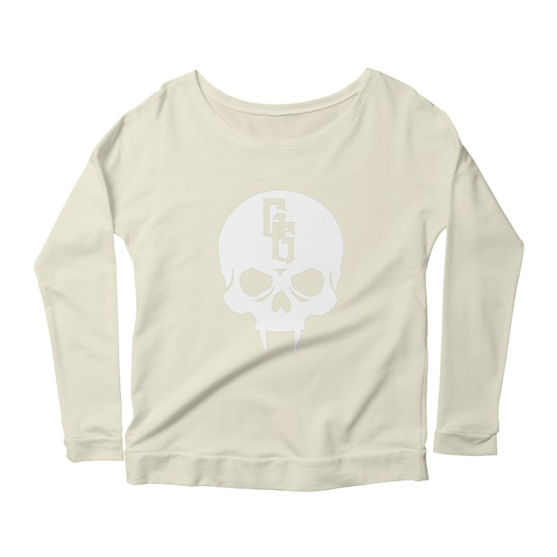 Gehenna Gaming Skull Logo (No Text - Goth Version) Women's Scoop Neck Longsleeve T-Shirt by GehennaGaming's Artist Shop