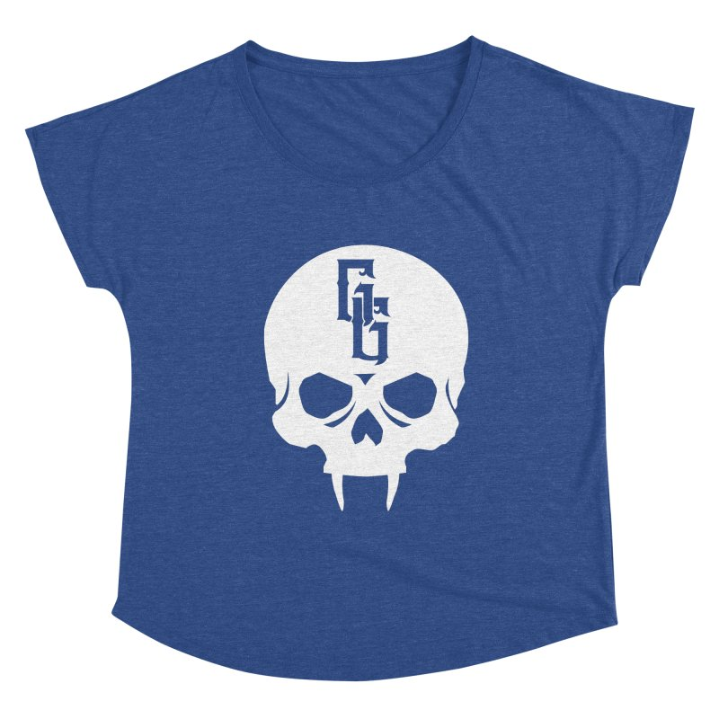 Gehenna Gaming Skull Logo (No Text - Goth Version) Women's Dolman Scoop Neck by The Gehenna Gaming Shop