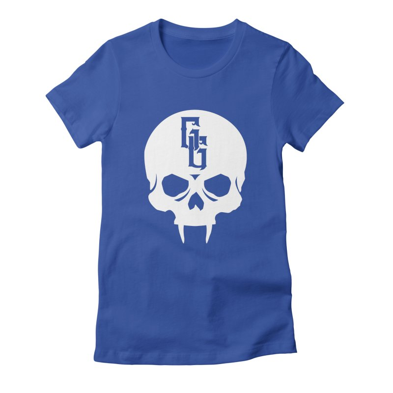 Gehenna Gaming Skull Logo (No Text - Goth Version) Women's Fitted T-Shirt by The Gehenna Gaming Shop