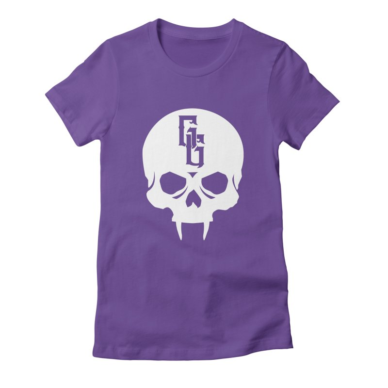 Gehenna Gaming Skull Logo (No Text - Goth Version) Women's Fitted T-Shirt by GehennaGaming's Artist Shop