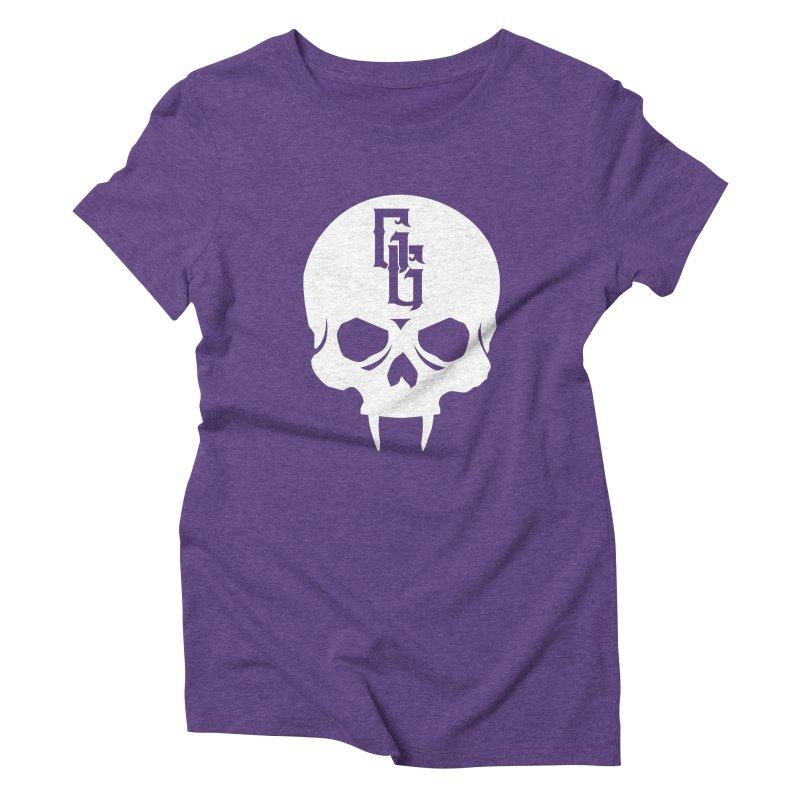Gehenna Gaming Skull Logo (No Text - Goth Version) Women's Triblend T-Shirt by The Gehenna Gaming Shop