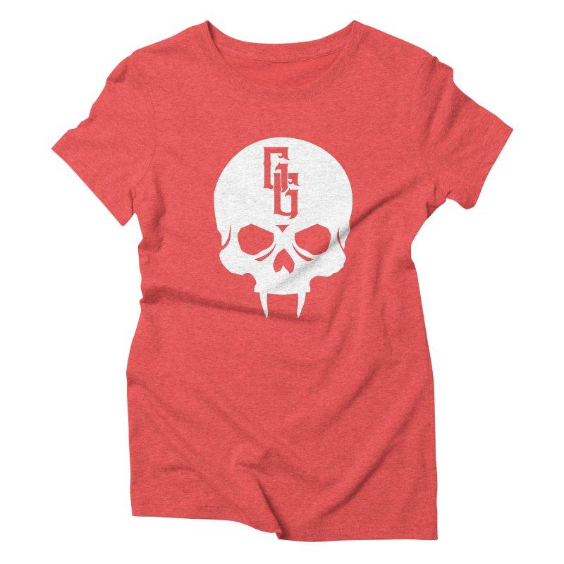 Gehenna Gaming Skull Logo (No Text - Goth Version) Women's Triblend T-Shirt by GehennaGaming's Artist Shop