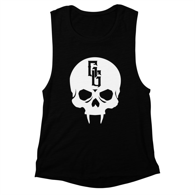 Gehenna Gaming Skull Logo (No Text - Goth Version) Women's Muscle Tank by GehennaGaming's Artist Shop
