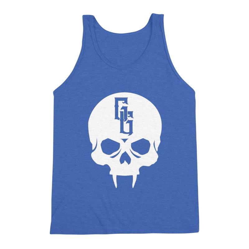 Gehenna Gaming Skull Logo (No Text - Goth Version) Men's Triblend Tank by GehennaGaming's Artist Shop