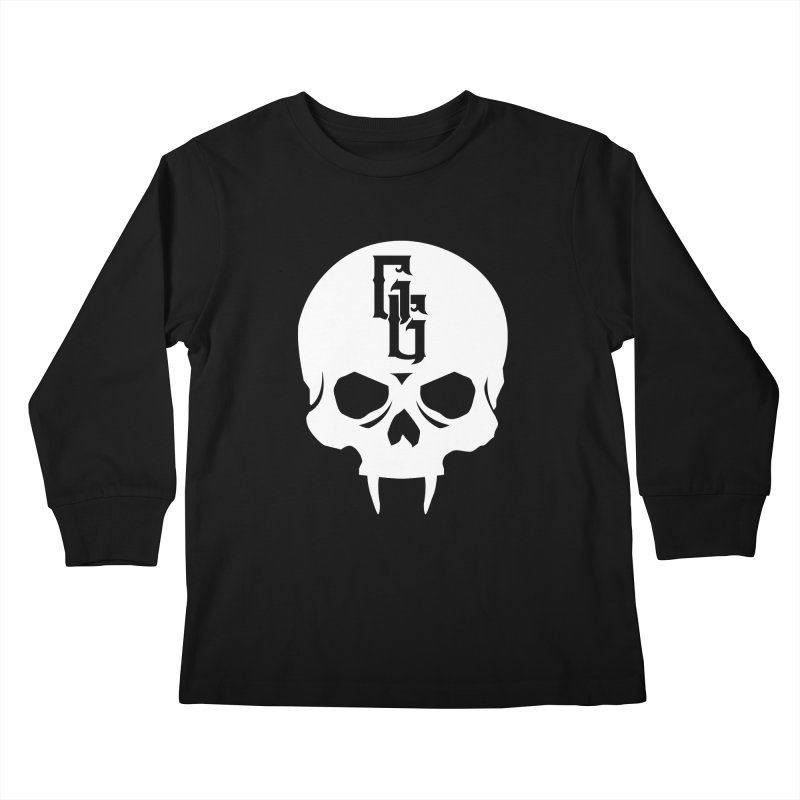Gehenna Gaming Skull Logo (No Text - Goth Version) Kids Longsleeve T-Shirt by GehennaGaming's Artist Shop