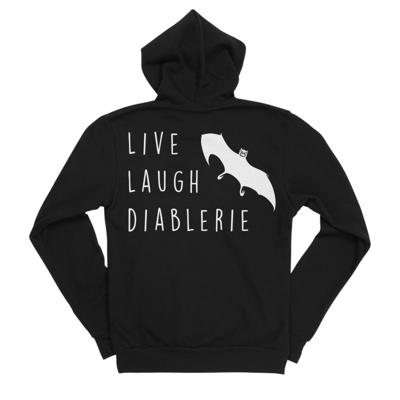 Live, Laugh, Diablerie (Goth) Women's Zip-Up Hoody by The Gehenna Gaming Shop