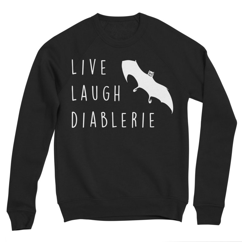 Live, Laugh, Diablerie (Goth) Men's Sponge Fleece Sweatshirt by The Gehenna Gaming Shop