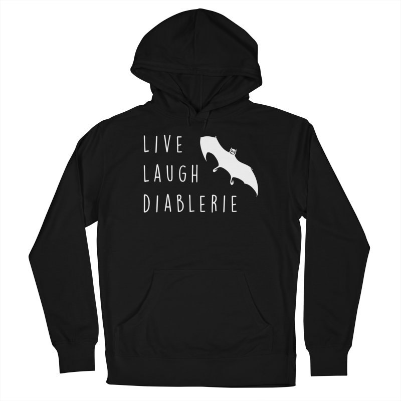 Live, Laugh, Diablerie (Goth) Women's French Terry Pullover Hoody by The Gehenna Gaming Shop
