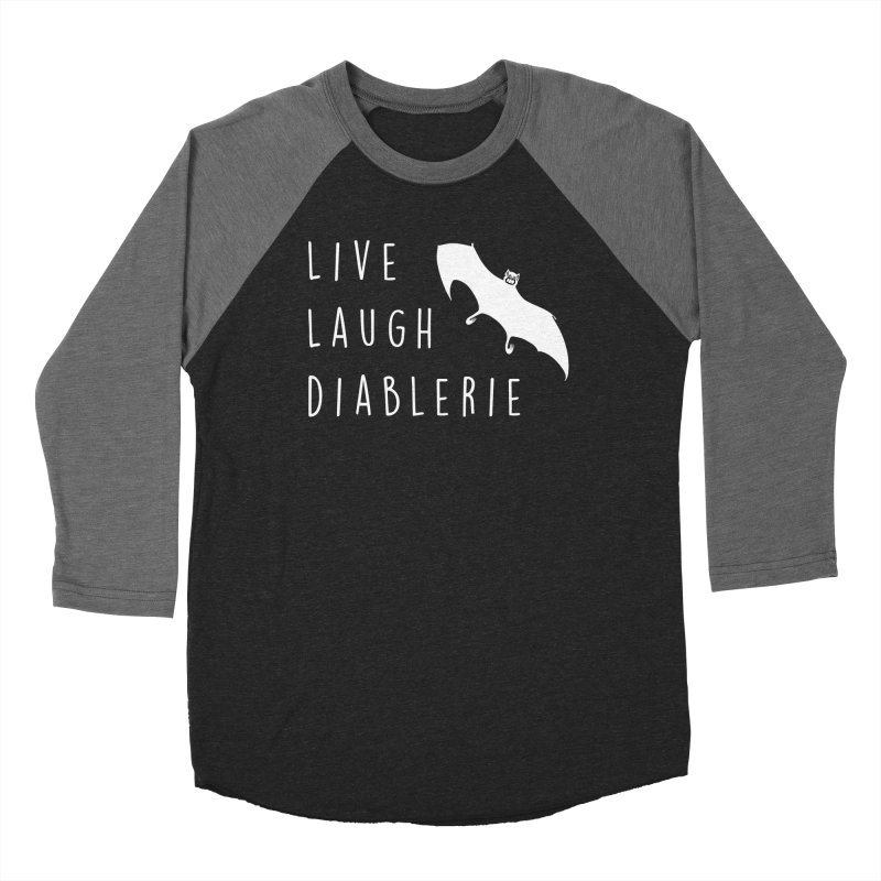 Live, Laugh, Diablerie (Goth) Men's Baseball Triblend Longsleeve T-Shirt by The Gehenna Gaming Shop