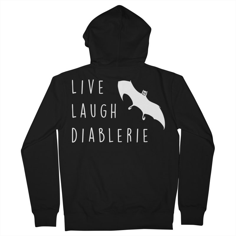 Live, Laugh, Diablerie (Goth) Women's French Terry Zip-Up Hoody by The Gehenna Gaming Shop