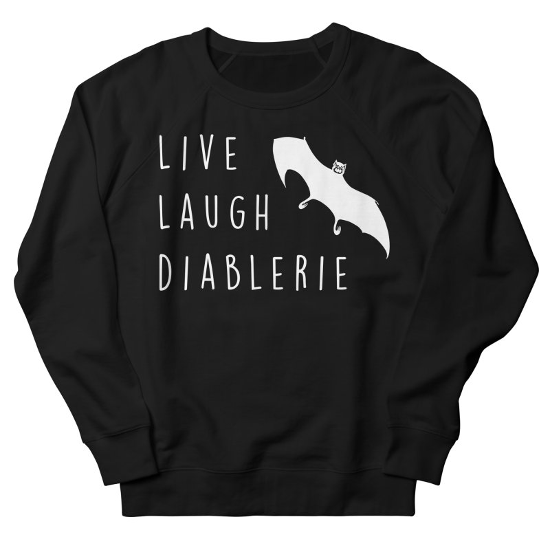 Live, Laugh, Diablerie (Goth) Men's French Terry Sweatshirt by The Gehenna Gaming Shop