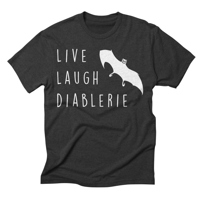 Live, Laugh, Diablerie (Goth) Men's Triblend T-Shirt by The Gehenna Gaming Shop