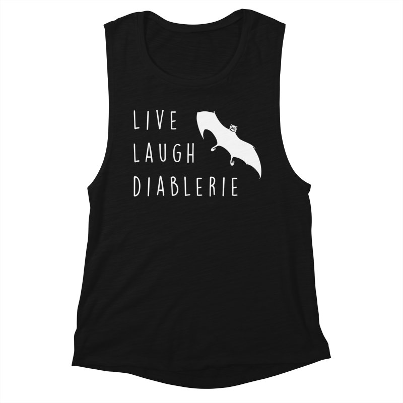 Live, Laugh, Diablerie (Goth) Women's Muscle Tank by The Gehenna Gaming Shop