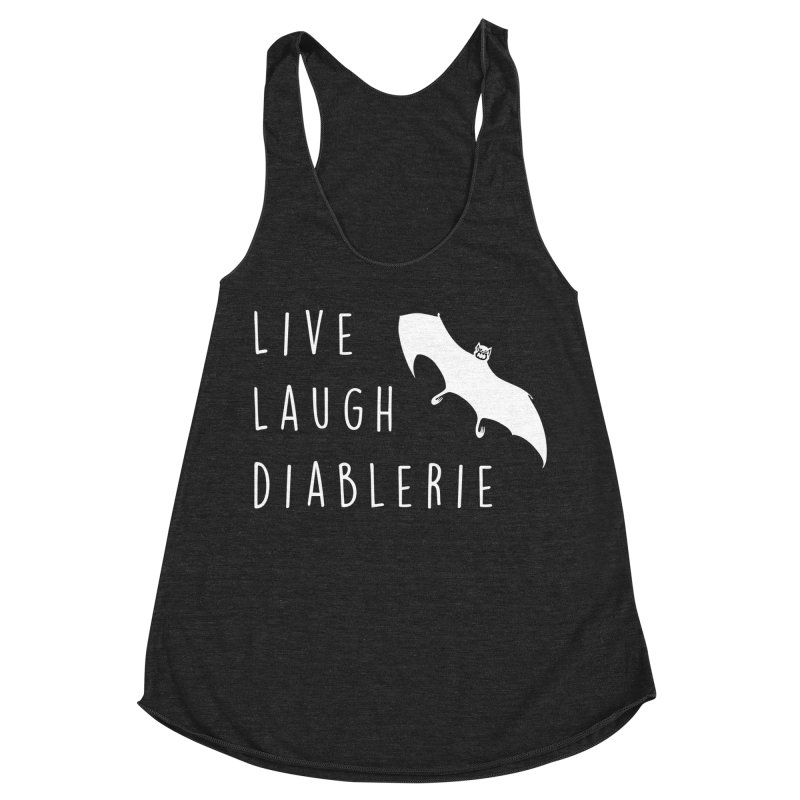 Live, Laugh, Diablerie (Goth) Women's Racerback Triblend Tank by The Gehenna Gaming Shop