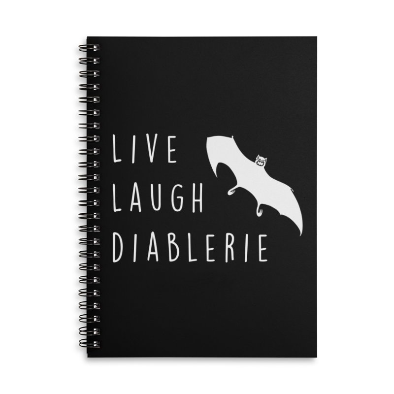 Live, Laugh, Diablerie (Goth) Accessories Lined Spiral Notebook by The Gehenna Gaming Shop