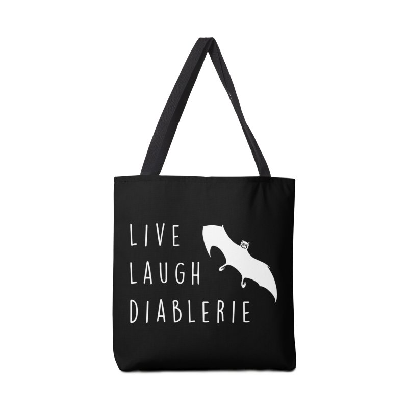 Live, Laugh, Diablerie (Goth) Accessories Tote Bag Bag by The Gehenna Gaming Shop