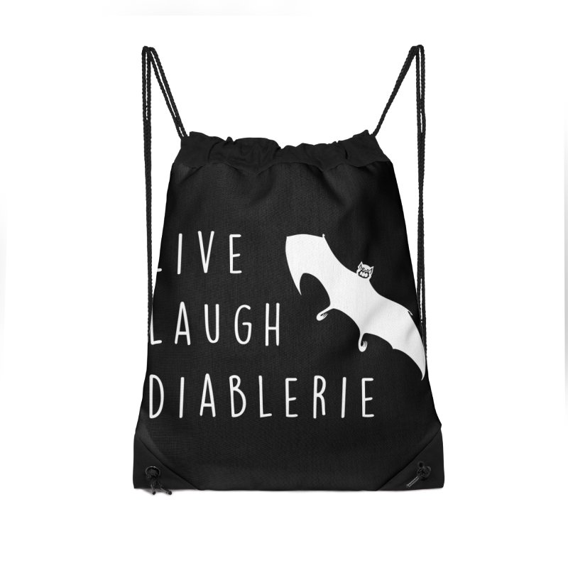 Live, Laugh, Diablerie (Goth) Accessories Drawstring Bag Bag by The Gehenna Gaming Shop