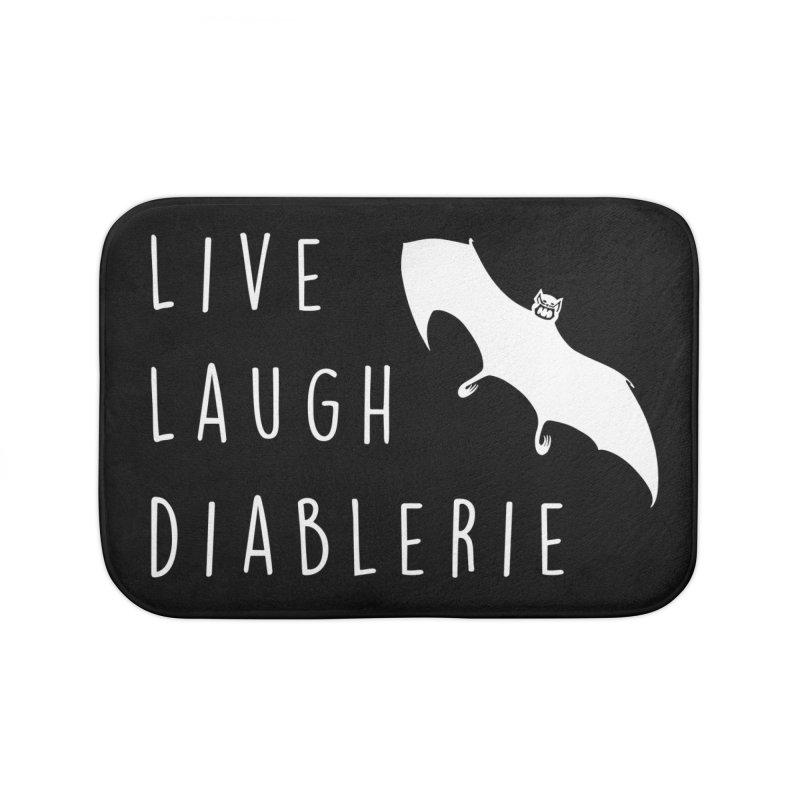 Live, Laugh, Diablerie (Goth) Home Bath Mat by The Gehenna Gaming Shop