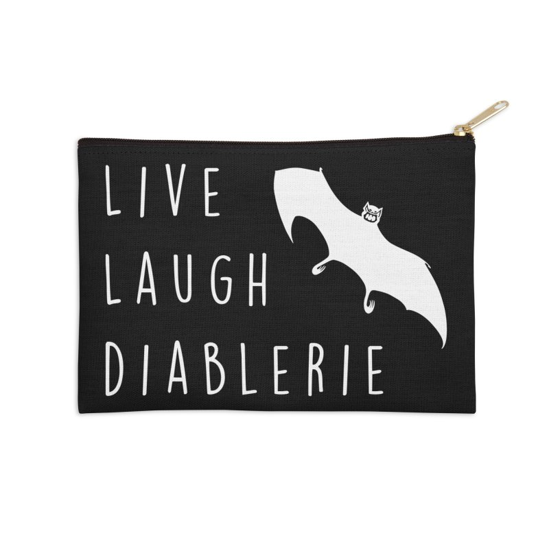 Live, Laugh, Diablerie (Goth) Accessories Zip Pouch by The Gehenna Gaming Shop