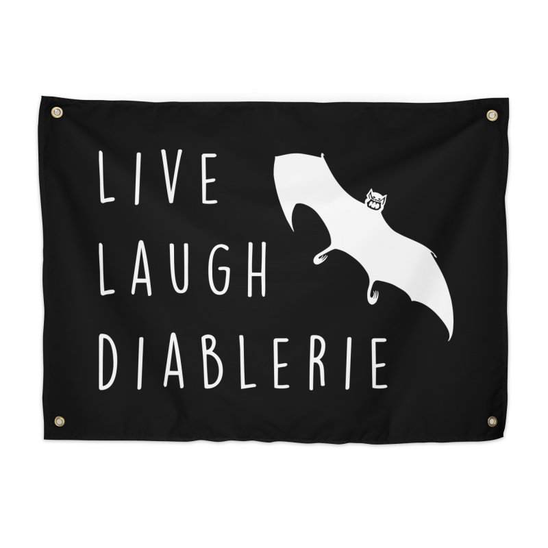 Live, Laugh, Diablerie (Goth) Home Tapestry by The Gehenna Gaming Shop