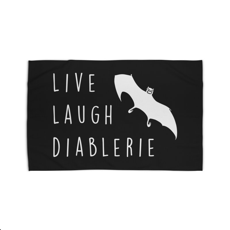 Live, Laugh, Diablerie (Goth) Home Rug by The Gehenna Gaming Shop
