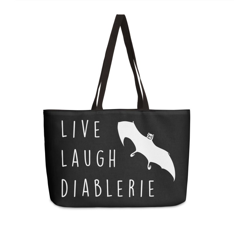 Live, Laugh, Diablerie (Goth) Accessories Weekender Bag Bag by The Gehenna Gaming Shop