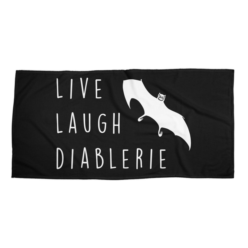 Live, Laugh, Diablerie (Goth) Accessories Beach Towel by The Gehenna Gaming Shop
