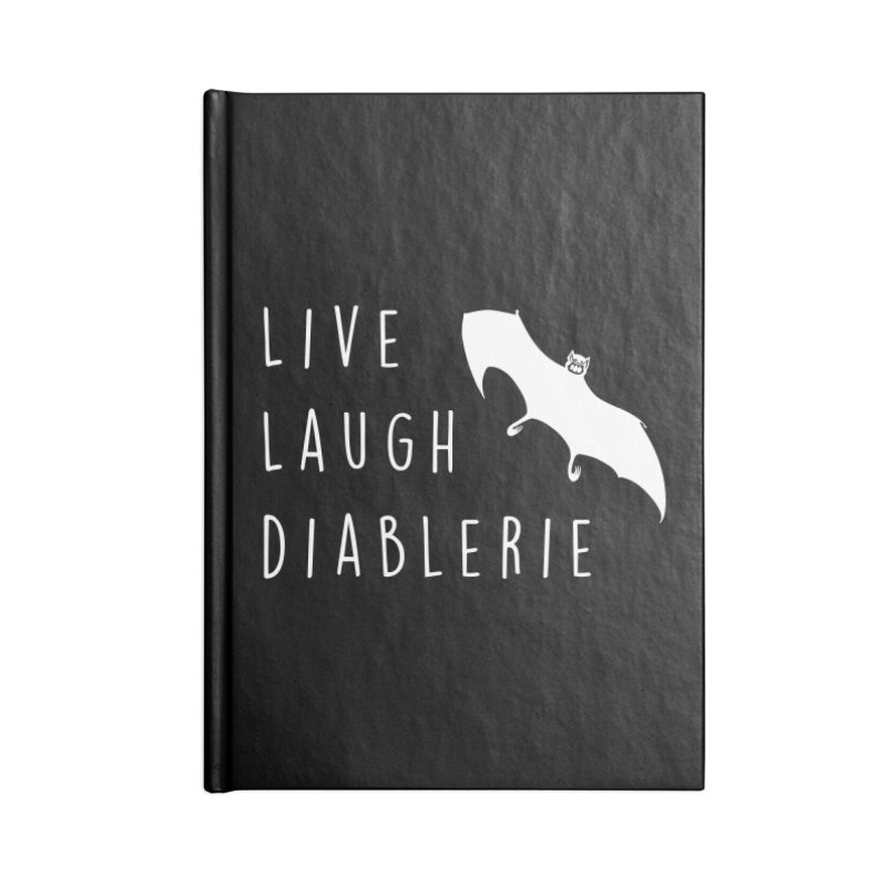 Live, Laugh, Diablerie (Goth) Accessories Lined Journal Notebook by The Gehenna Gaming Shop