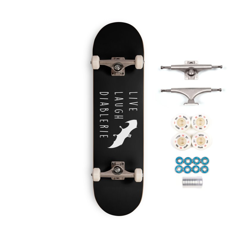 Live, Laugh, Diablerie (Goth) Accessories Complete - Premium Skateboard by The Gehenna Gaming Shop