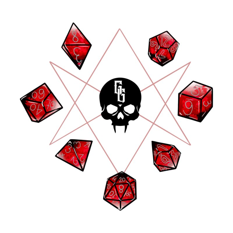 Dice Ritual Sticker (Gehenna Gaming and Seditious Materials) Accessories Sticker by The Gehenna Gaming Shop