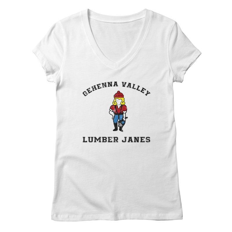 Gehenna Valley Lumber Janes Women's V-Neck by The Gehenna Gaming Shop