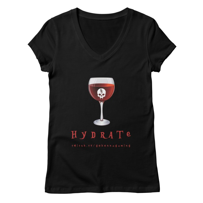 Hydrate Women's V-Neck by The Gehenna Gaming Shop