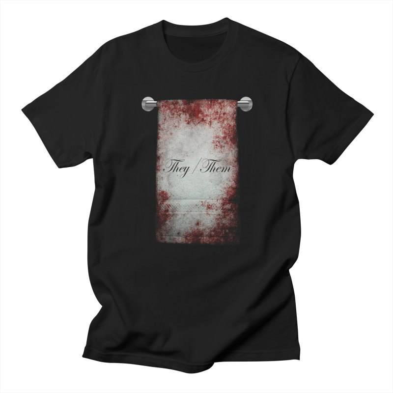 Horror Towel Pronoun: They/Them Men's T-Shirt by The Gehenna Gaming Shop