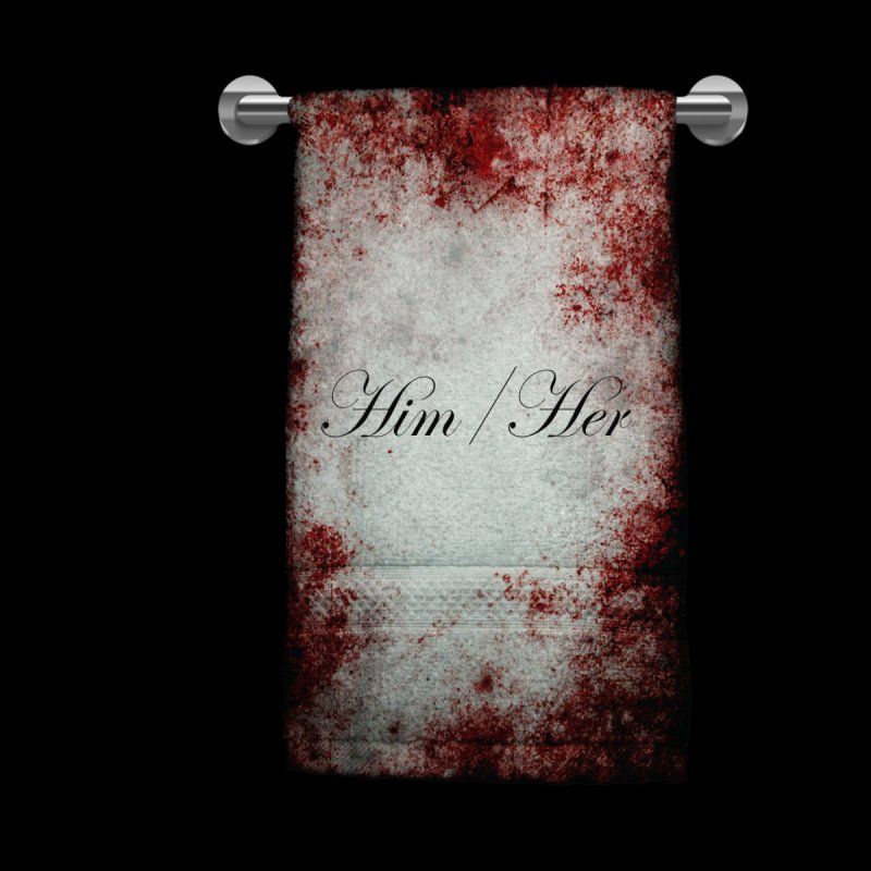 Horror Pronoun Towel: Him/Her Women's V-Neck by The Gehenna Gaming Shop