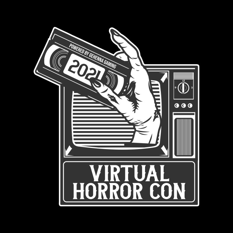 Virtual Horror Con 2021 Logo Women's Zip-Up Hoody by The Gehenna Gaming Shop