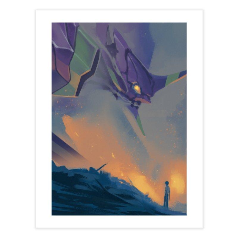 Evangelion - A Cruel Angel's Thesis Home Fine Art Print by Shiba Shop