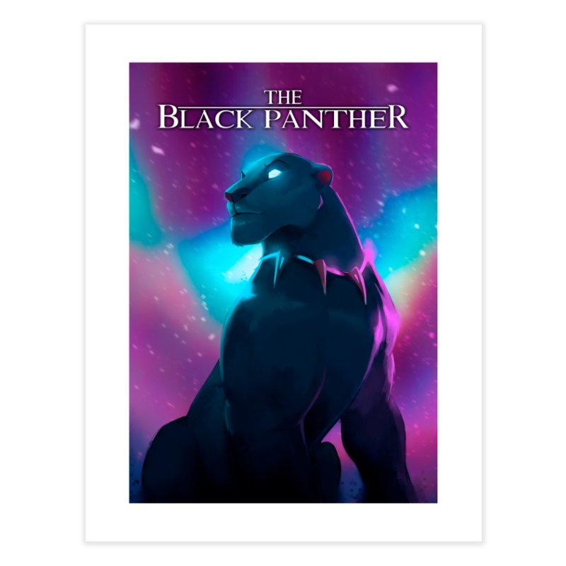 The Black Panther Home Fine Art Print by Shiba Shop