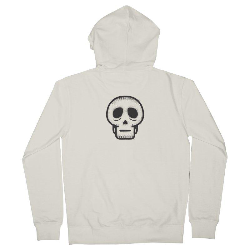 Hollow Skull Men's French Terry Zip-Up Hoody by Gentlemen Tees