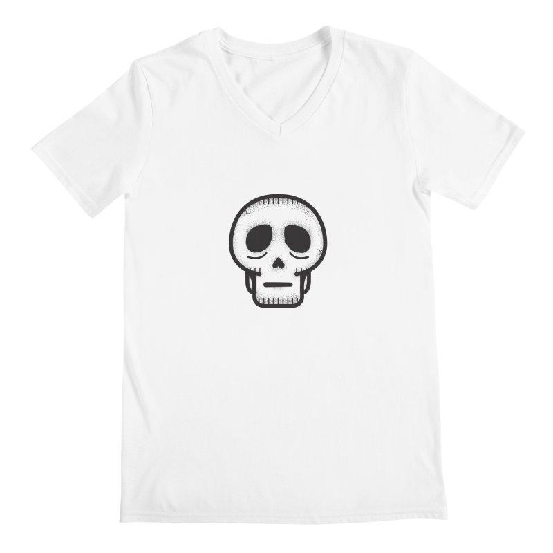 Hollow Skull Men's Regular V-Neck by Gentlemen Tees