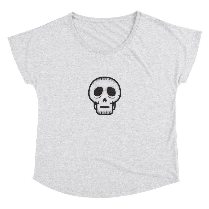 Hollow Skull Women's Dolman Scoop Neck by Gentlemen Tees