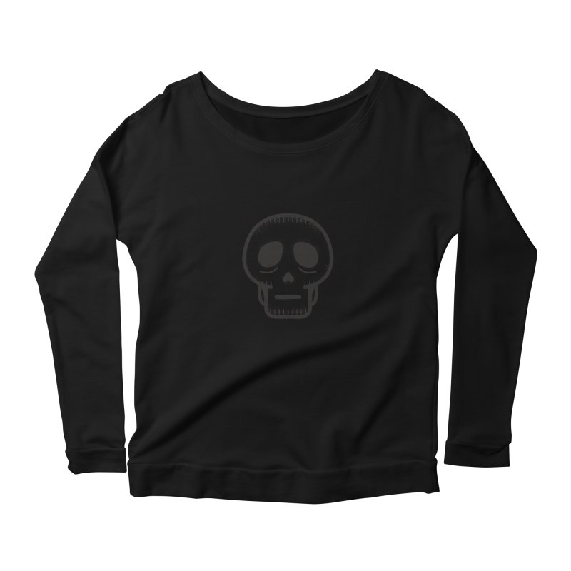 Hollow Skull Women's Scoop Neck Longsleeve T-Shirt by Gentlemen Tees