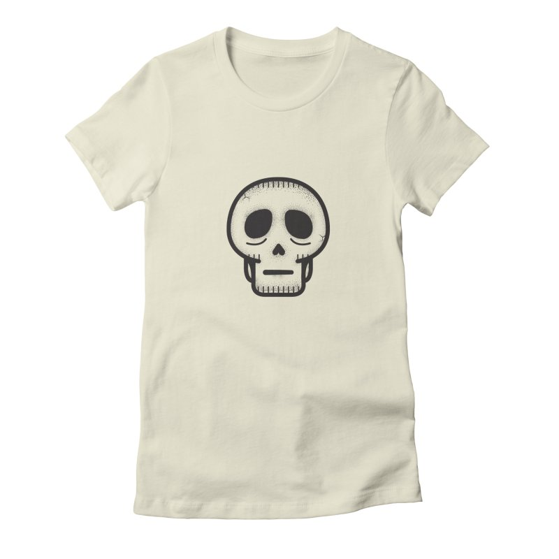 Hollow Skull Women's Fitted T-Shirt by Gentlemen Tees