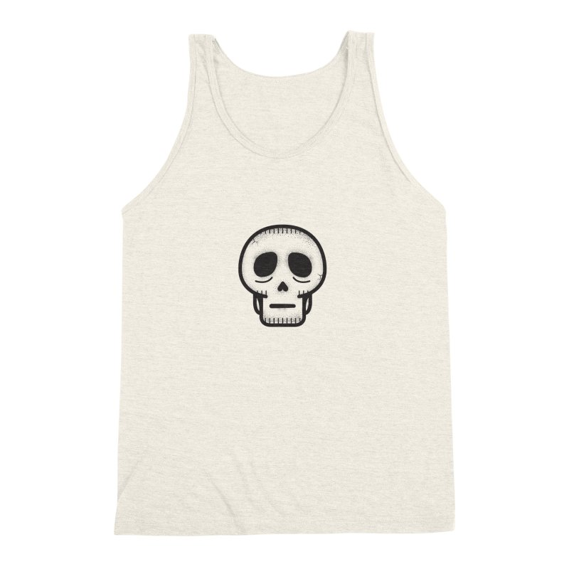 Hollow Skull Men's Triblend Tank by Gentlemen Tees