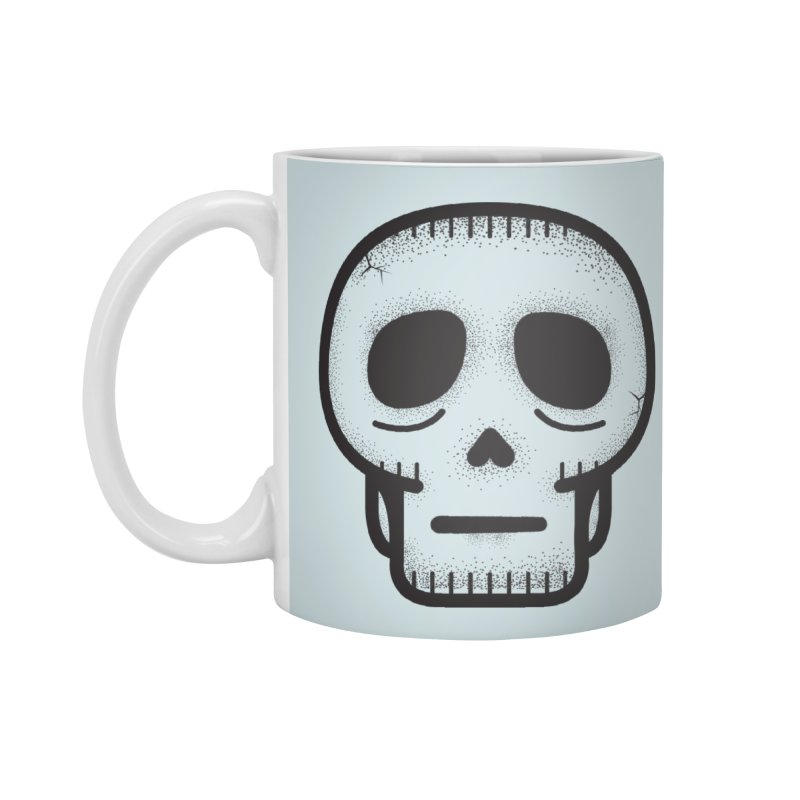Hollow Skull Accessories Standard Mug by Gentlemen Tees
