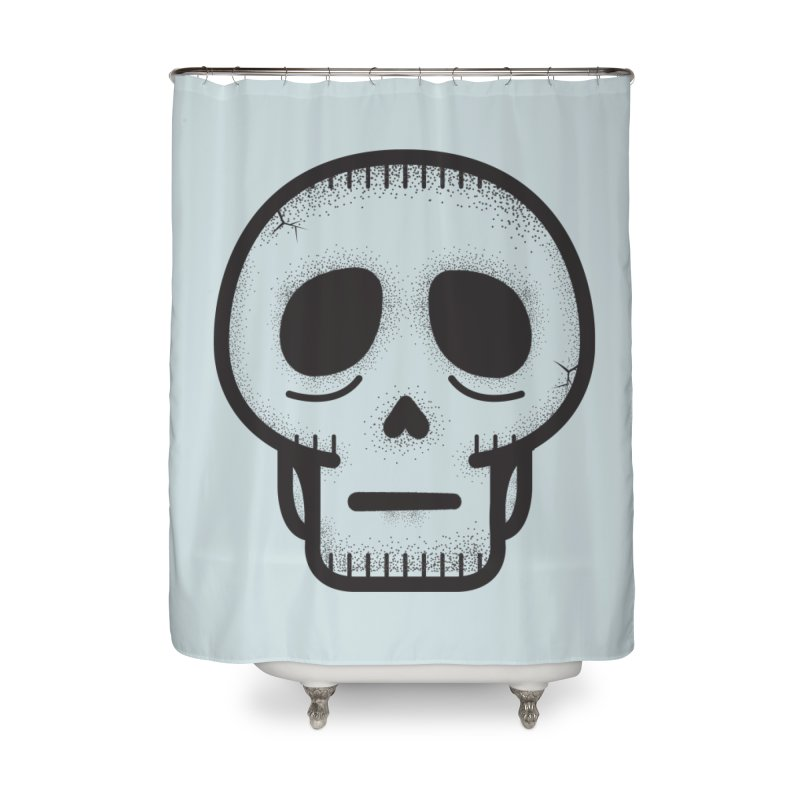 Hollow Skull Home Shower Curtain by Gentlemen Tees