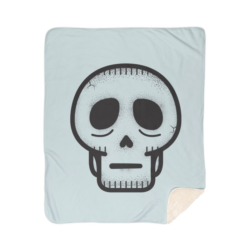 Hollow Skull Home Sherpa Blanket Blanket by Gentlemen Tees