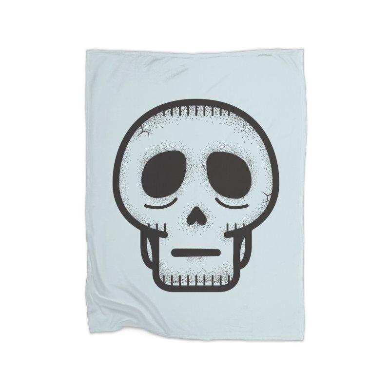 Hollow Skull Home Fleece Blanket Blanket by Gentlemen Tees