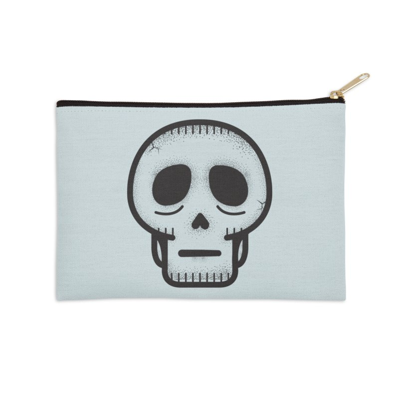 Hollow Skull Accessories Zip Pouch by Gentlemen Tees