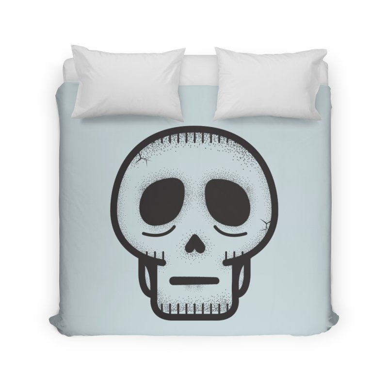 Hollow Skull Home Duvet by Gentlemen Tees